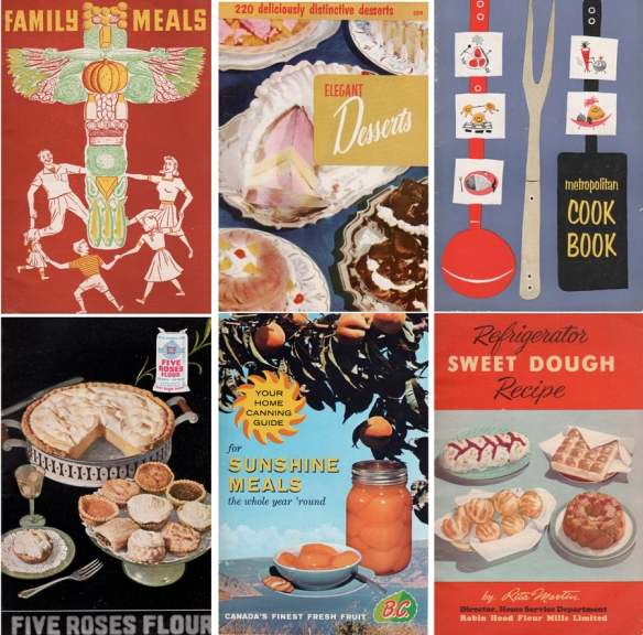 Composite of cook book covers