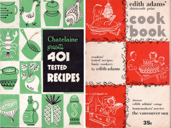 Two cookbook covers from 1950s.