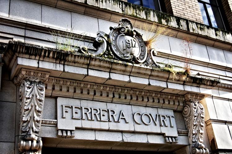 Ferrera Court building lintel