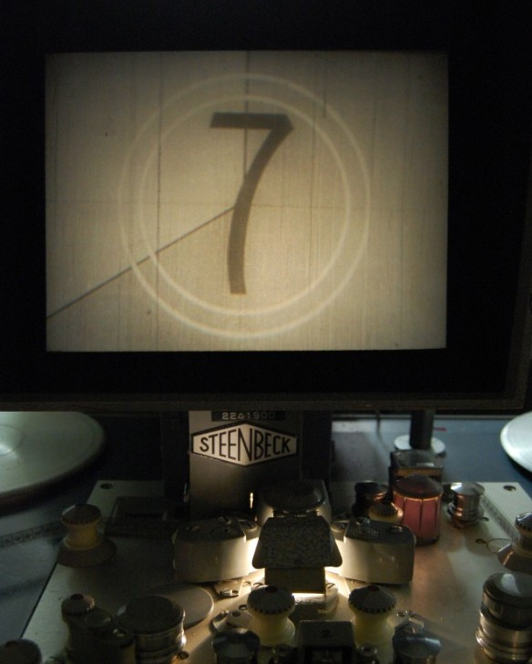 Film countdown on Steenbeck