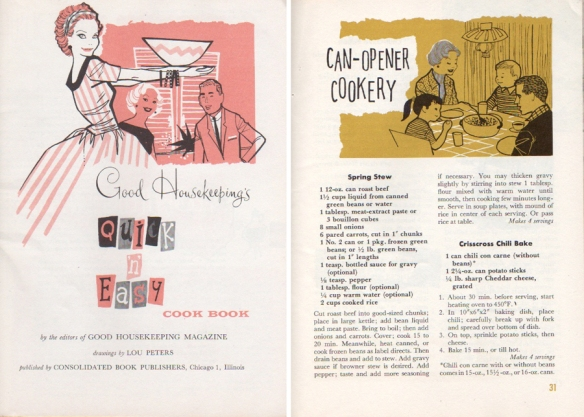 Quick n' Easy - cooking with canned food.