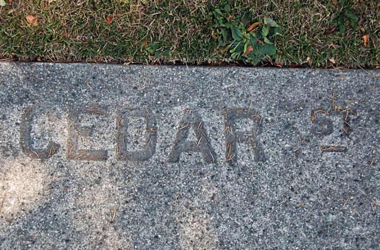 Cedar St.