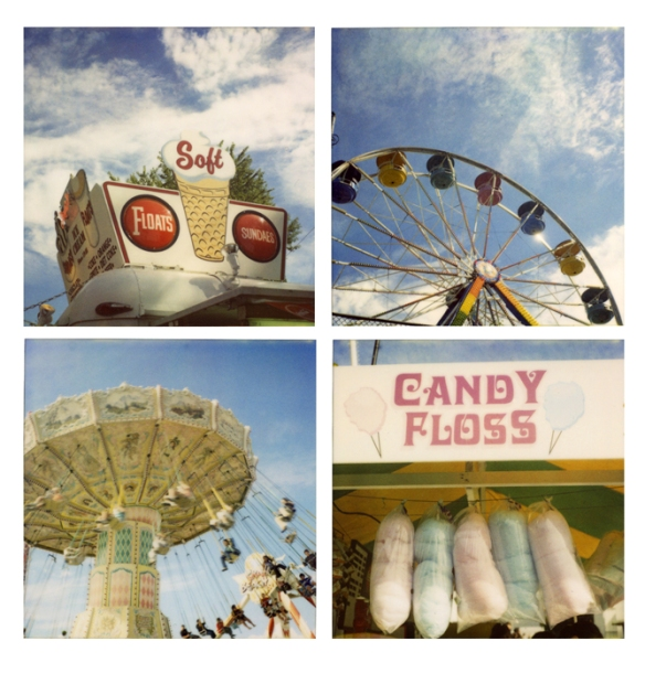 Composite of SX-70 polaroid photos at Playland.