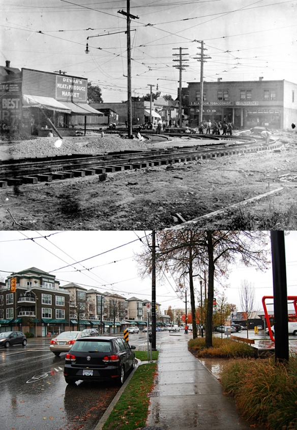 Main at 18th - Before and After. I think if my camera position was about 8 meters to the right, the angle would have been just about right. Top Photo: