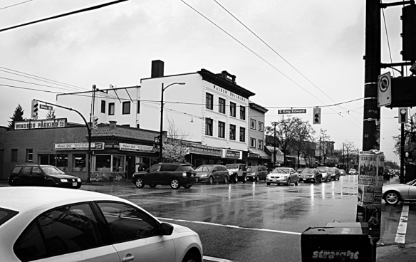 Corner of 25th Ave. and Main St. Vancouver, B.C., 2013. Photo: C. Hagemoen