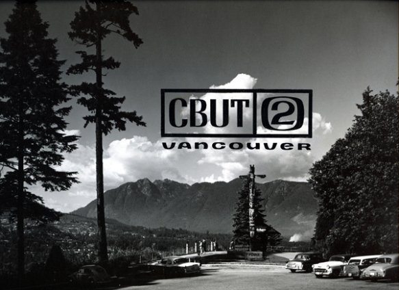 CBUT, channel 2 station ID. Prospect Point, Stanley Park, 1961. Photo: Alvin Armstrong, CBC Vancouver Still Photo Collection.