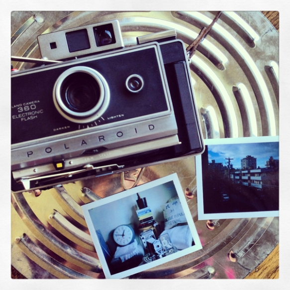 My first photos using my new (yet old) Polaroid Land Camera. Photo: C. Hagemoen