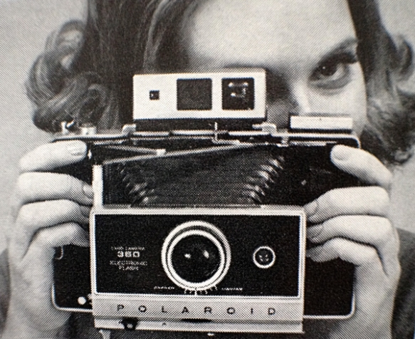 "Image from Polaroid Land Camera model 360 instruction manual - ""How to make daylight pictures"". Photo: C. Hagemoen"