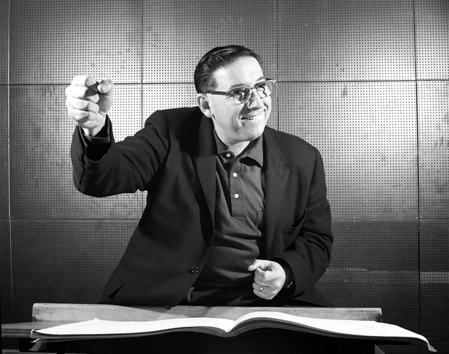 Dave Robbins in 1962. Photo: Franz Lindner, CBC Vancouver Still Photo Collections.