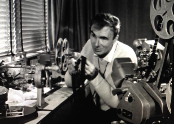 """Screen still from """"Creative Process: Norman McLaren"""" - NFB."""