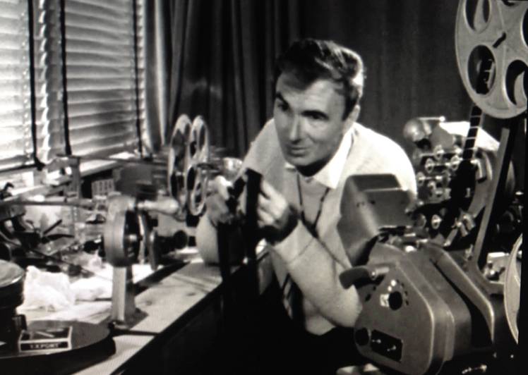 "Screen still from ""Creative Process: Norman McLaren"" - NFB."