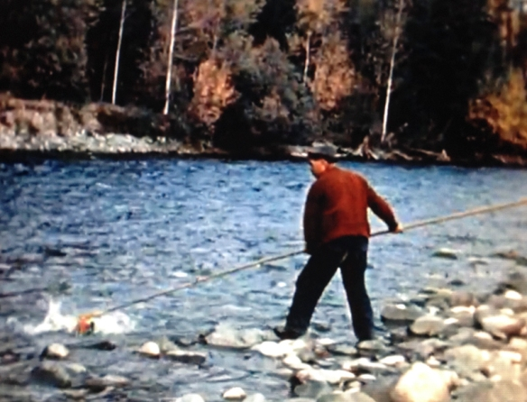 Screen still from Red Runs the Fraser.