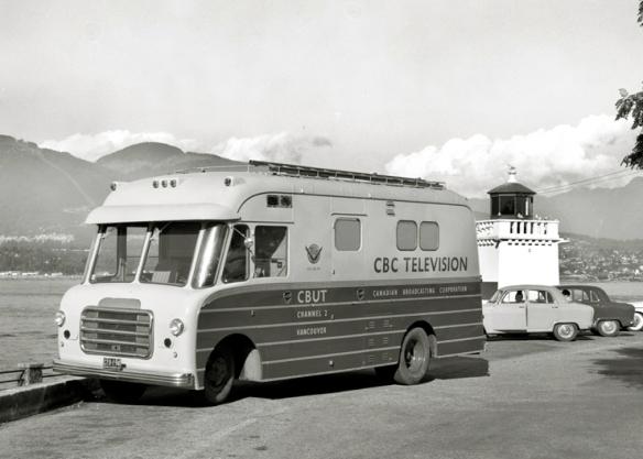 CBUT (Channel 2) Mobile Unit. Photo: Alvin Armstrong, CBC Vancouver Still Photo Collection.