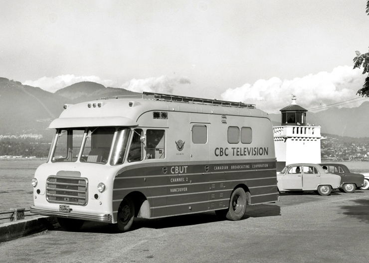 CBUT (Channel 2) Mobile Unit. Photo: Alvin Armstrong, CBC Vancouver Still Photo Collection.