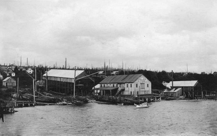 Wallace Shipyards from the water, ca.1910. Photo: Out P1164 , CoV Archives.