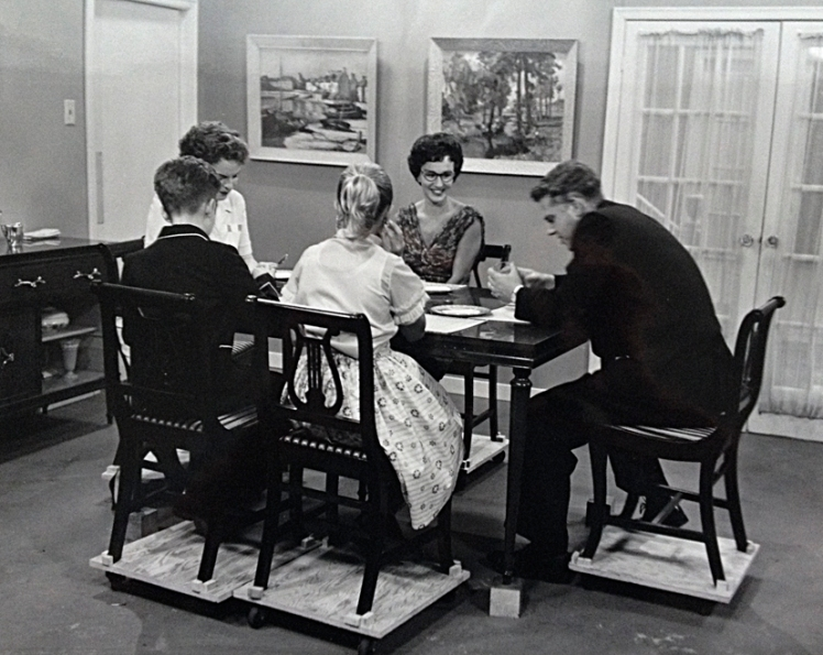 Production still from the set of Spectrum's - Some Days You Have To Hit Somebody (1958).