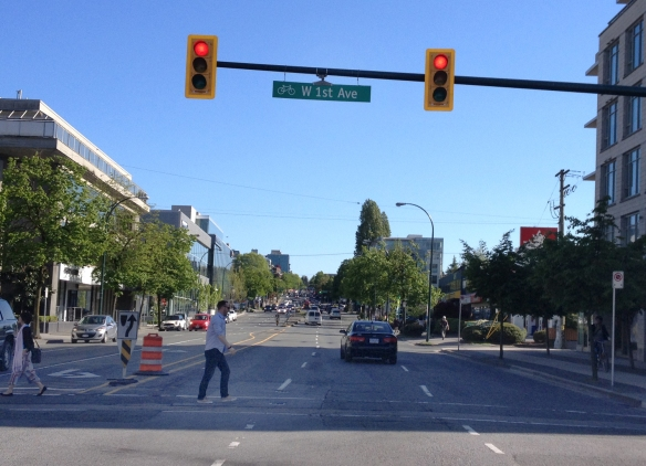 Burrard Street at 1st Avenue, May 2015. Photo: C. Hagemoen