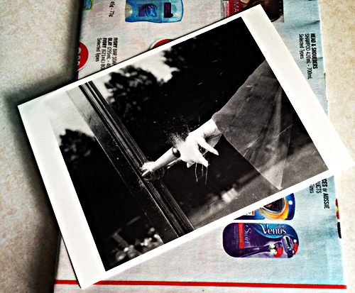 Postcard from my friend along with a flyer (what I usually receive in the mail) arrived in my mailbox recently. Photo: C. Hagemoen