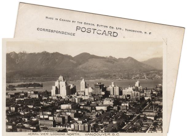 Vintage Vancouver postcard ca. 1938.