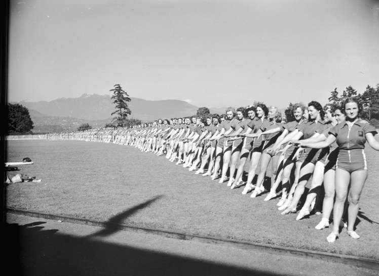 Pro Rec [demonstrations in] Stanley Park, ca. 1940. Photo: CoV Archives - CVA 586-226