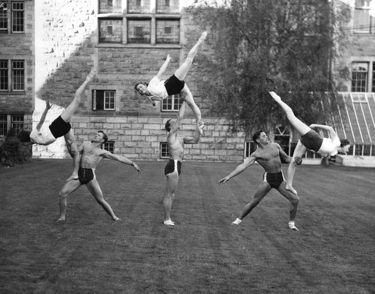 Pro-Rec members putting on a display at UBC. ca. 1940. Photo: COV Archives - Sp P46.4