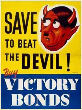 Save to Beat the Devil - Canadian World War II Poster. Photo Credit: Library and Archives Canada, Acc. No. 1983-30-1220