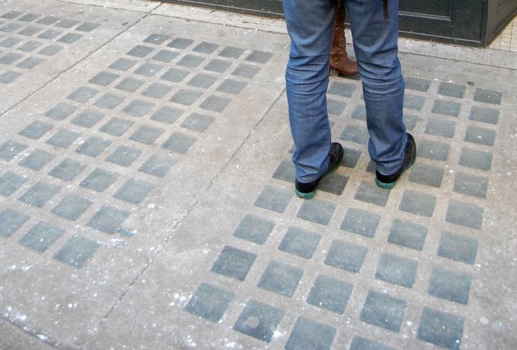 Sidewalk outside 18 Water Street. Photo: C. Hagemoen