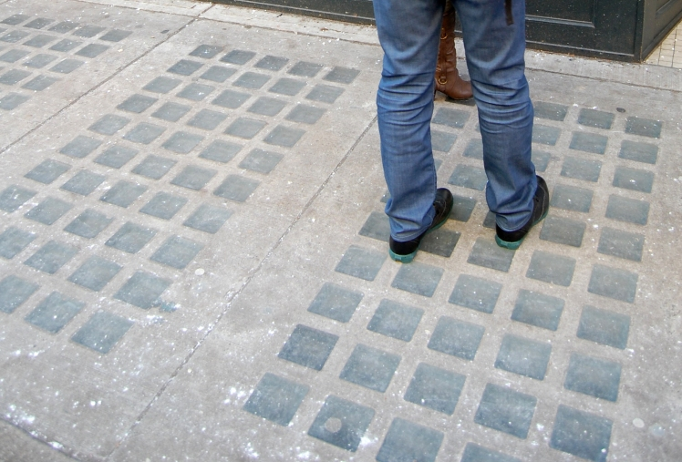 Sidewalk outside 18 Water Street. Photo: C. Hagemoen