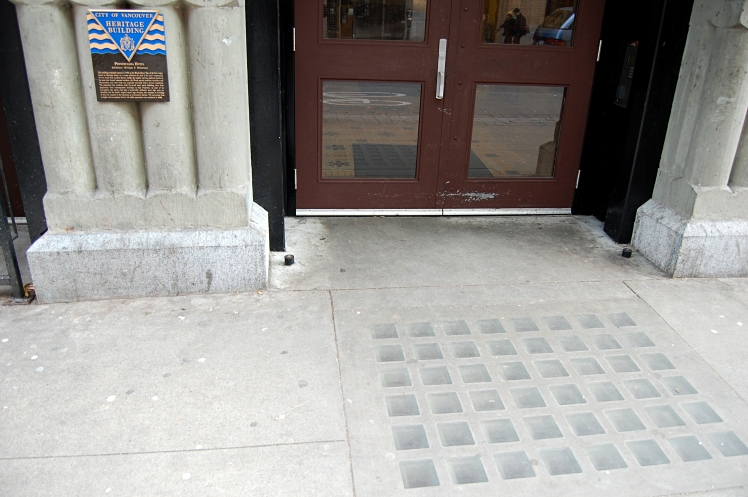 Sidewalk at 412 Carrall St. Photo: C. Hagemoen
