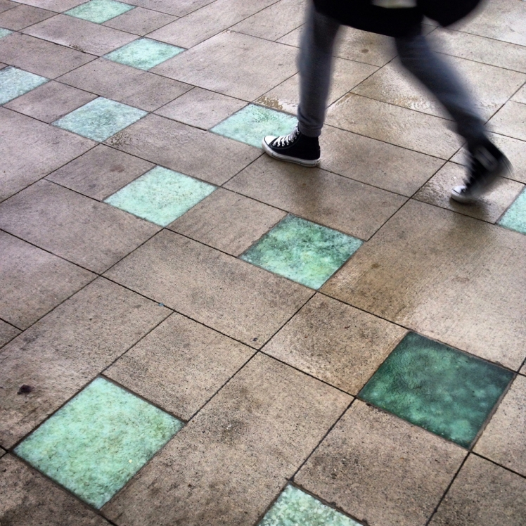 Illustrated sidewalk at Cambie & Broadway. Photo: C. Hagemoen