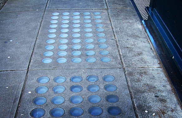 Sidewalk at 370 Cambie Street - Flack Building. Photo: C. Hagemoen