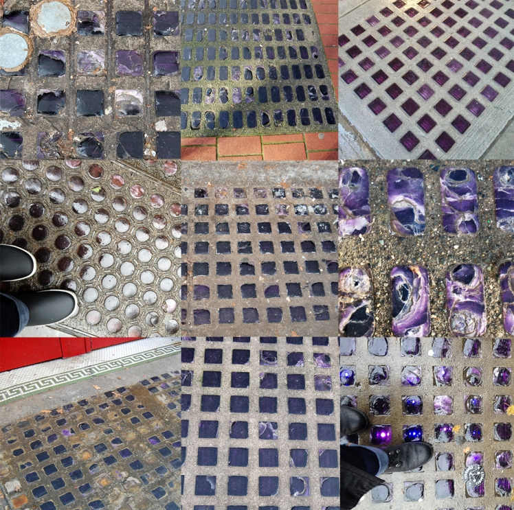 Sidewalk prism light mosaic. Photos: C. Hagemoen